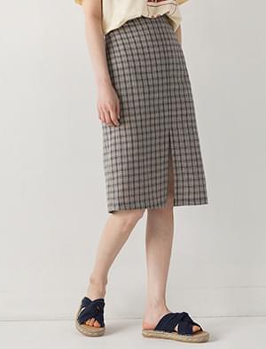 slit check banding skirt