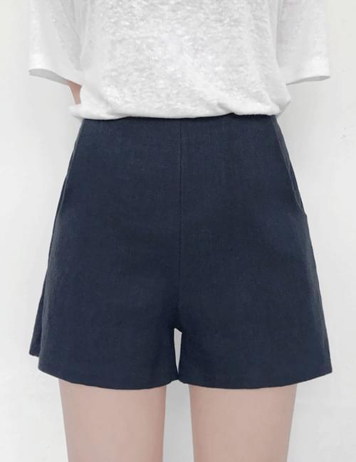 Trim linen pants