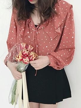 Frill People dot blouse