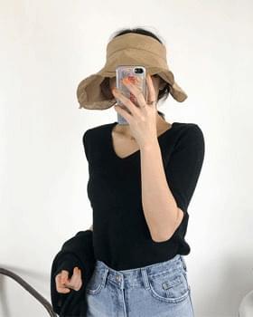 Linen wide sun hat