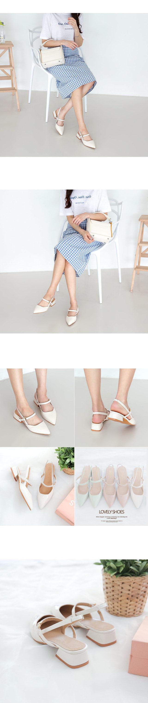 Death Sling Bag Flat Shoes 3.5cm
