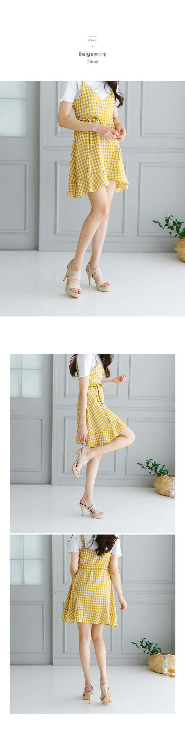 HOLLAND cutout sandals 6,10cm
