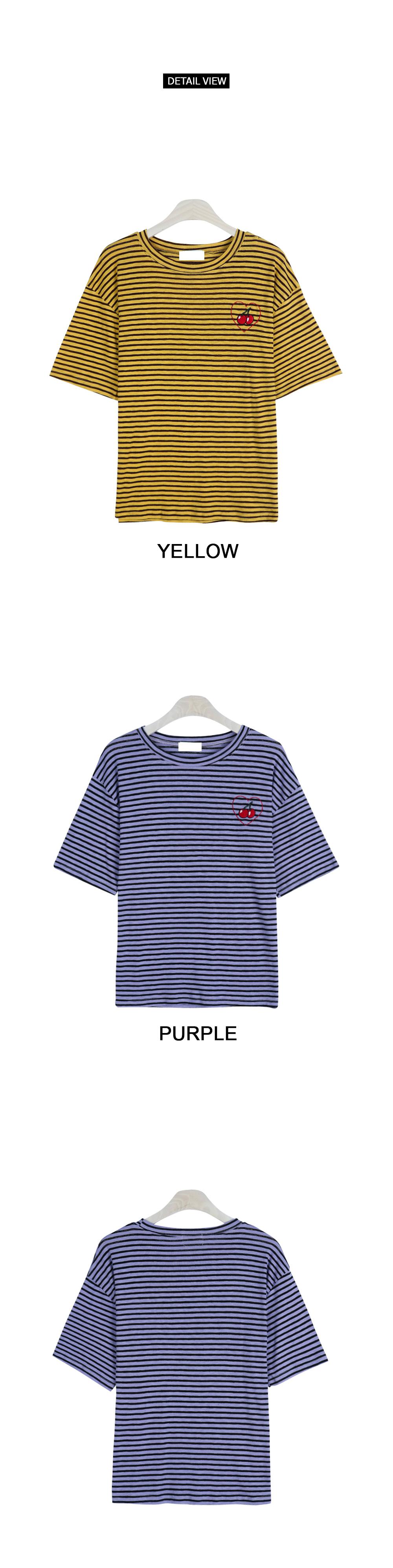Heart cherry short-sleeved tee (t4635)