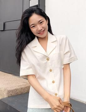 Half clean pocket shirt_K (size : free)