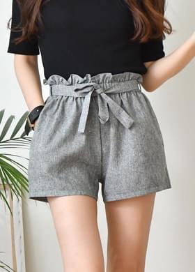 Bending Shorts Ribbon Hot Pants