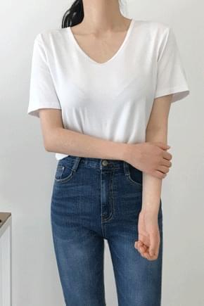 Poten U Neck Short Sleeve Polo Shirt