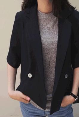 El linen double jacket (2 colors)