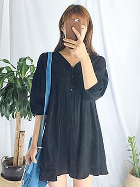 Linen Lace Pretty Dress