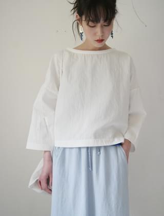 cropped boxy blouse (washing white)