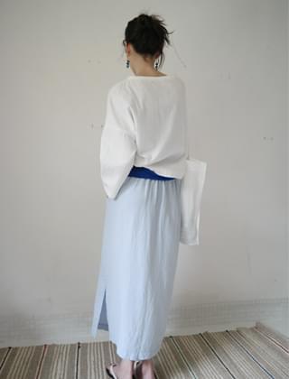 minimal linen light skirt (5colors)