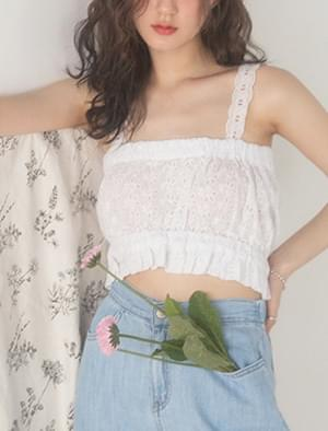 lace crop sleeveless