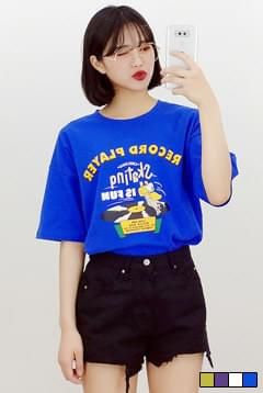 Record rhythm short sleeve T