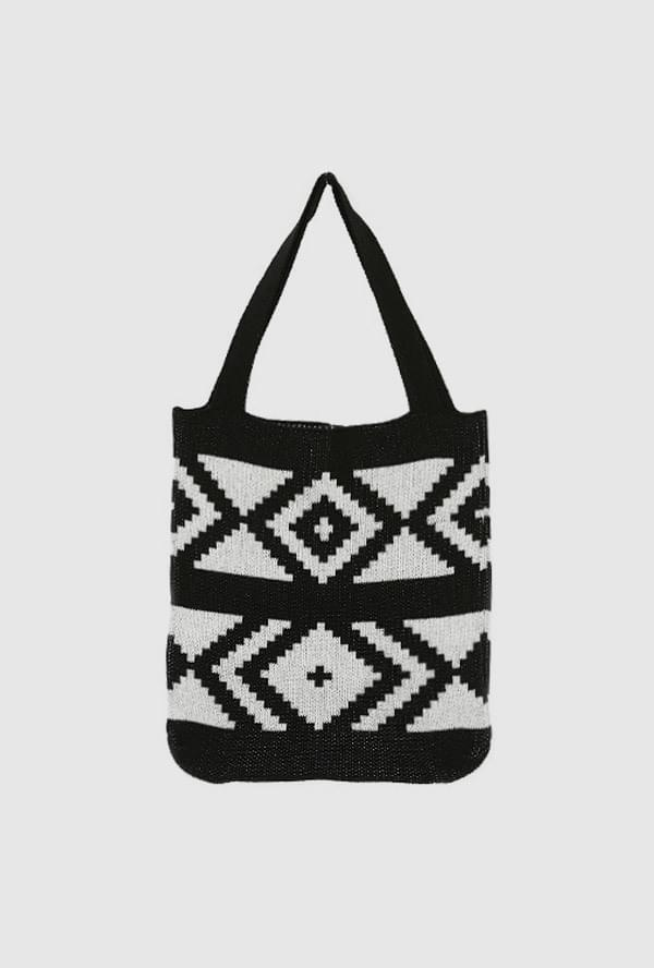 Point knit bag