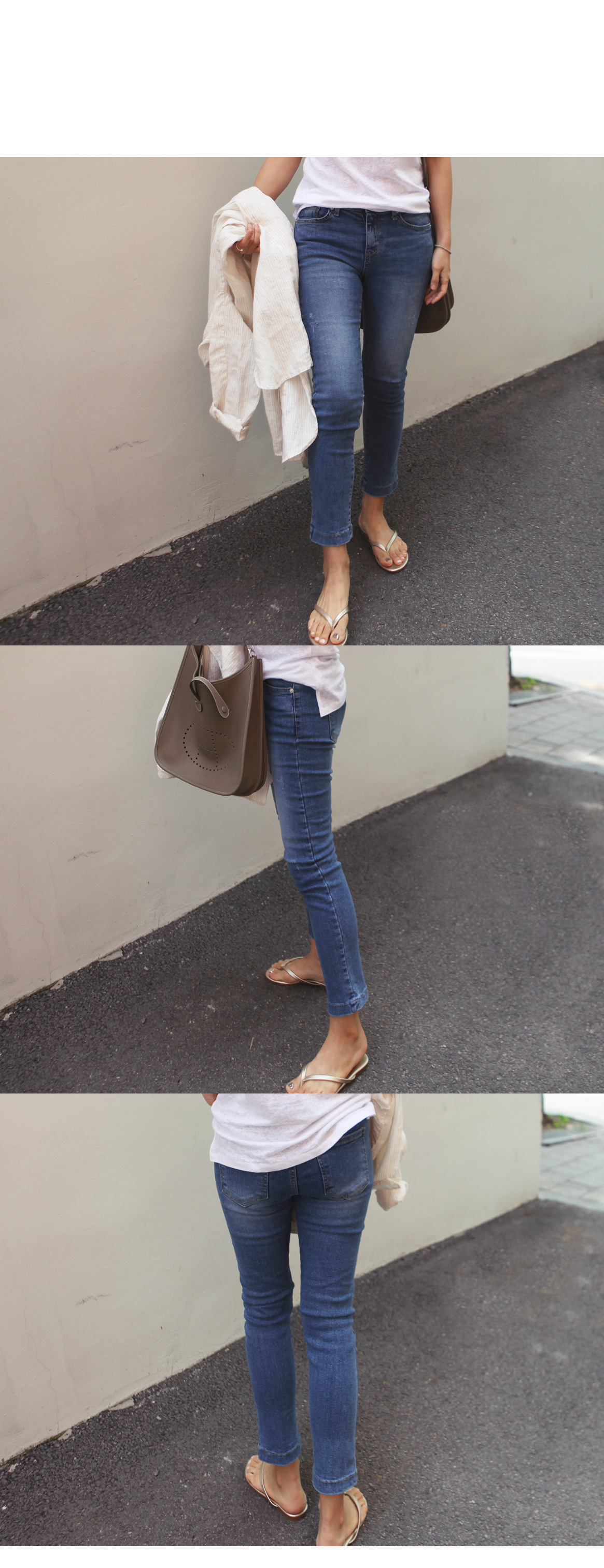 Beautiful banding in the skirt !! Date Jeans-5266
