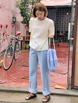 Hola cutting denim shorts_H (size : S,M,L)