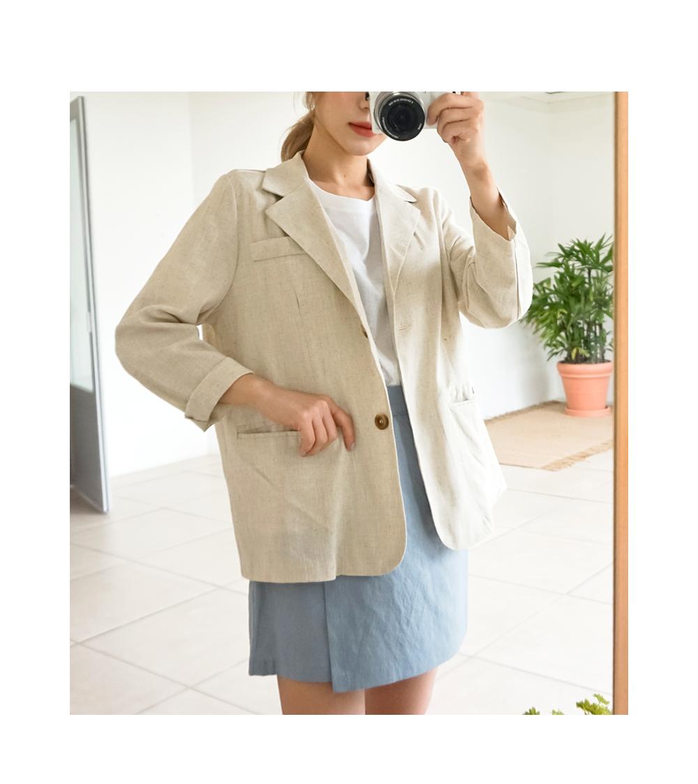 Urban linen jacket