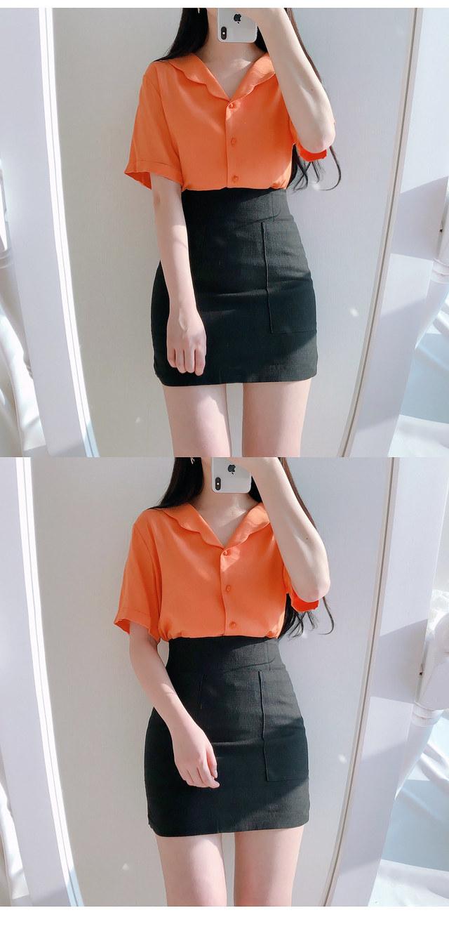 10% discount on person's name ♥ TENGERIN WAVE Kara bl (orange, white)