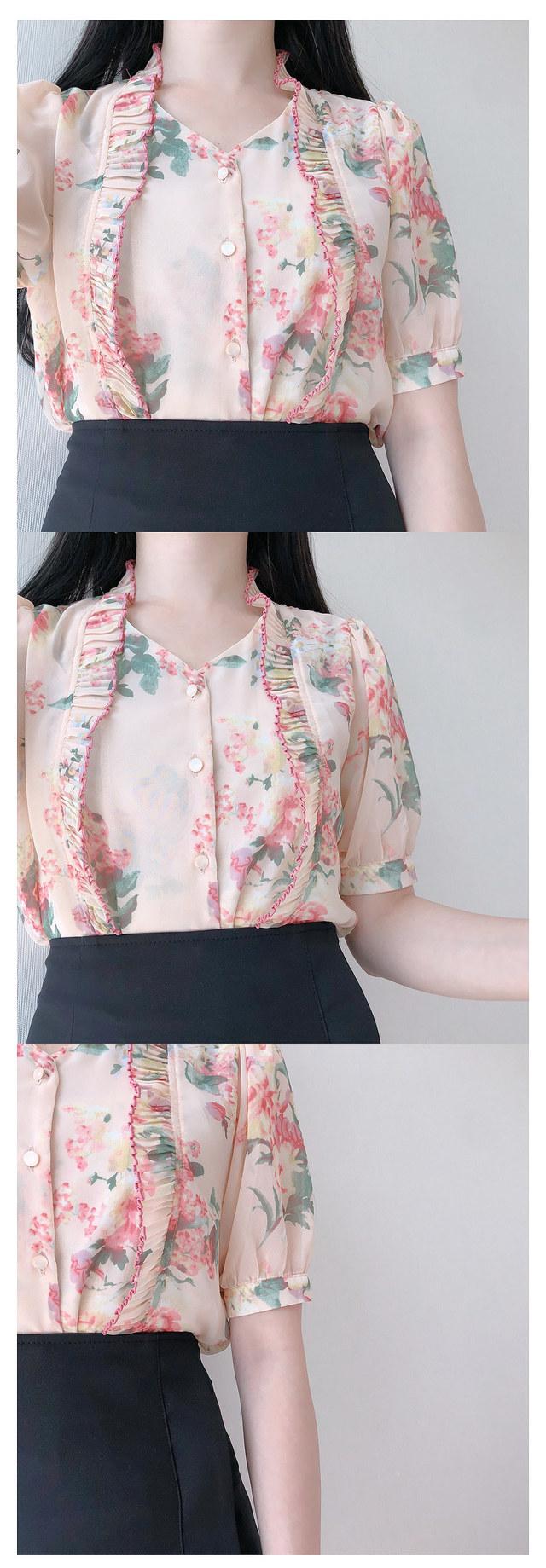 10% off the picture ♥ Elf flower bl (pink beige, navy)