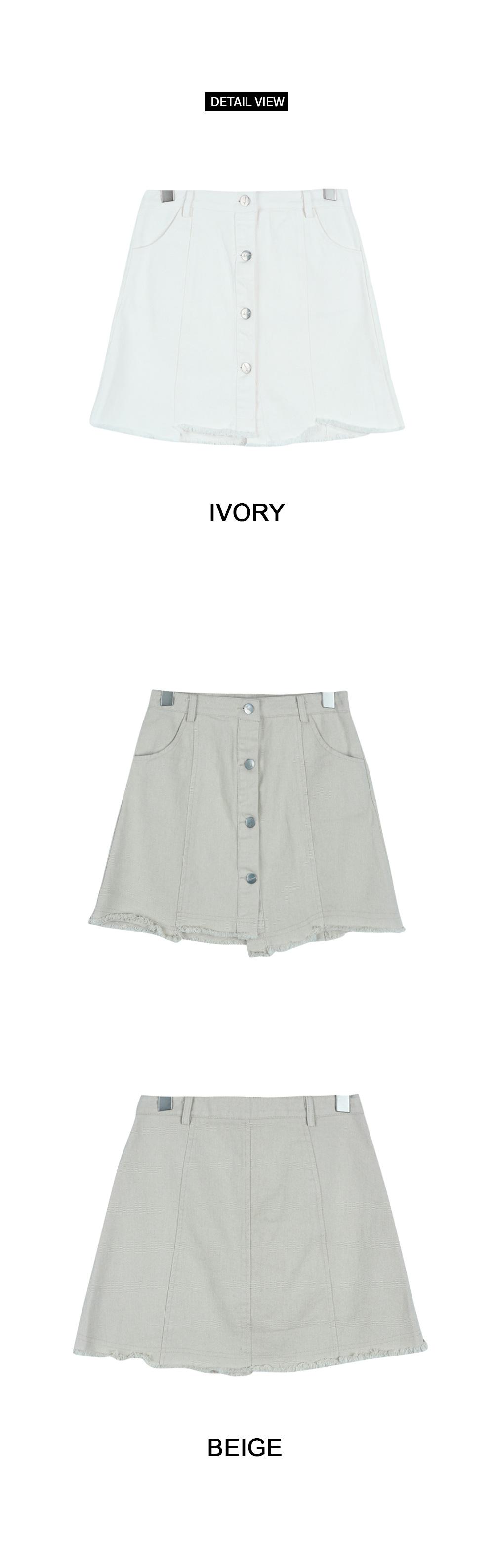 Button hash skirt (sk1174)