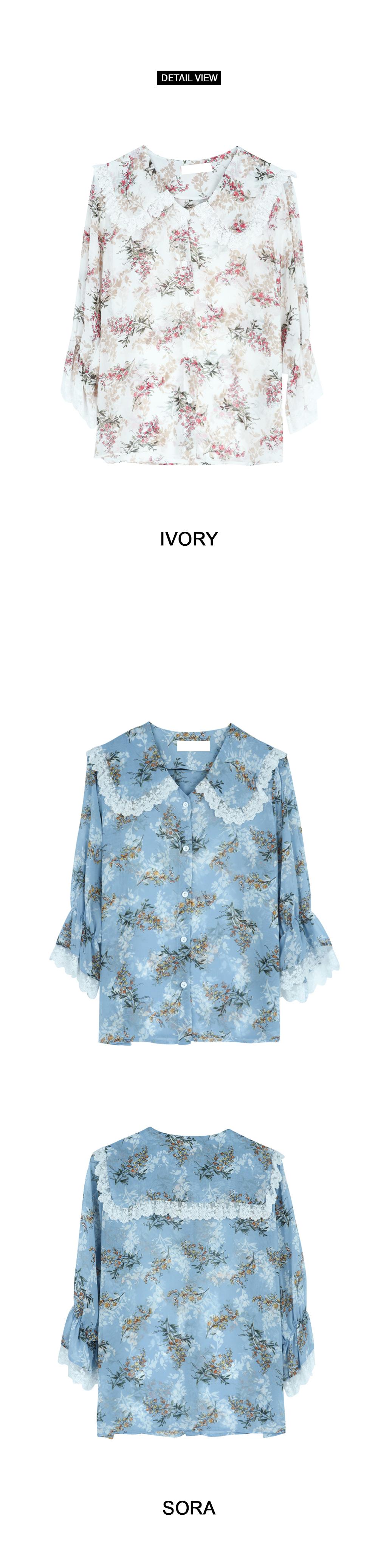 Beauty flower blouse (bl484)
