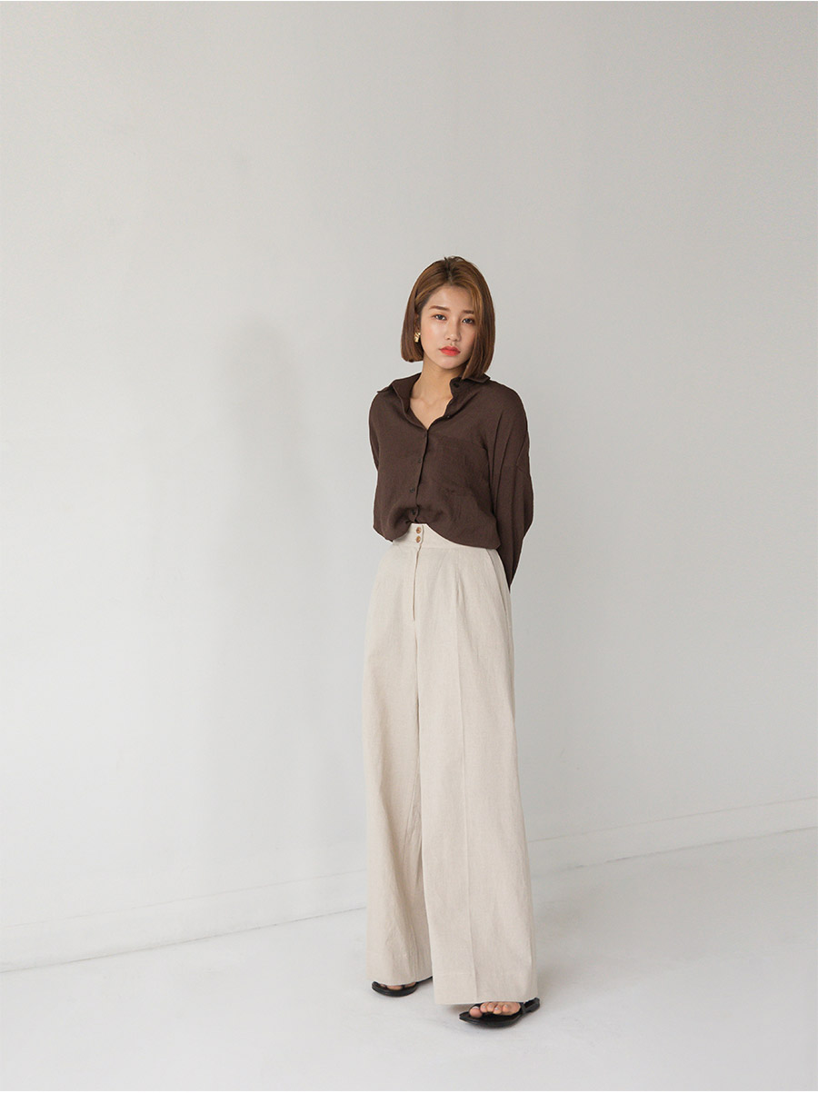 4 color basic loose fit shirts