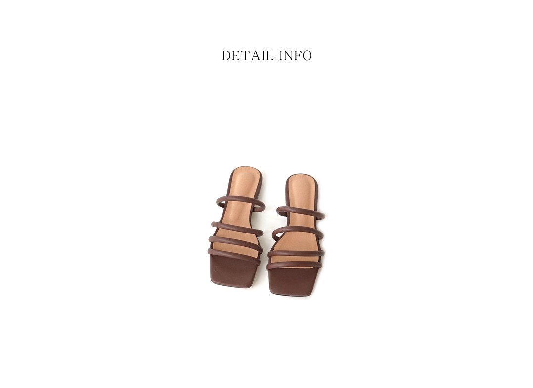 sensual cord point sandals (4colors)