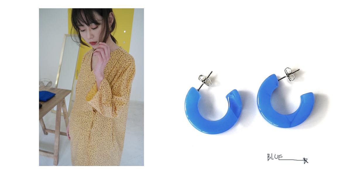 semicircle marvel earrings (4colors)