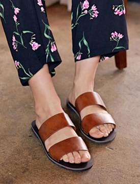 Travel two strap slippers_B (size : 230,235,240,245,250)