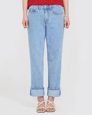 boyish light denim pants (s, m)