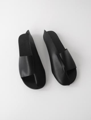 half cover combine slippers (3colors)