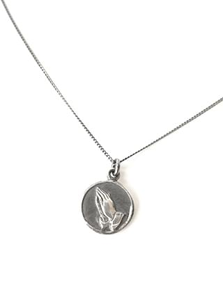 two hands pendant necklace