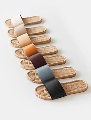 Simple Daily Rattan Slippers