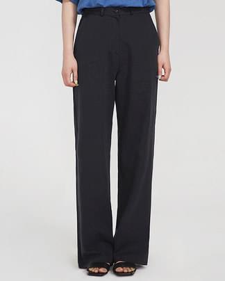 natural straight slacks (s, m)