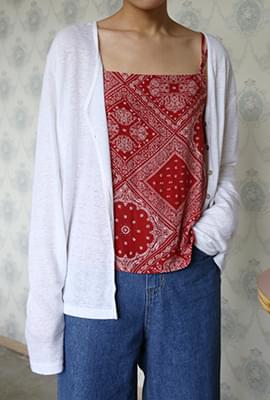 Common linen cardigan