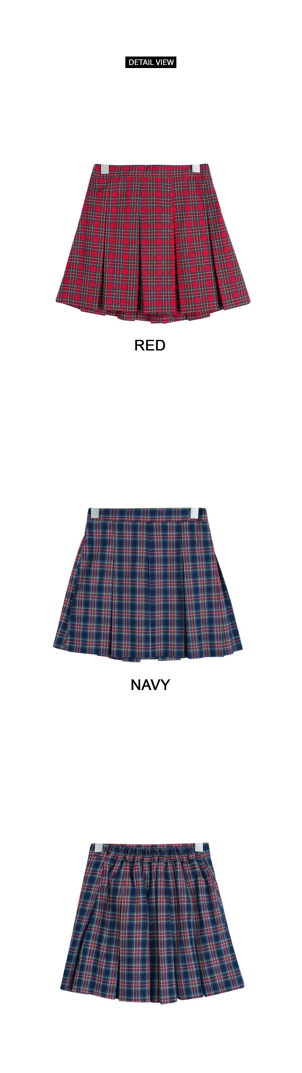 Tartan Pleated Skirt (sk1165)
