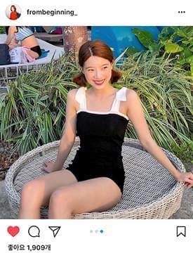 Hepburn ribbon swimsuit_H (size : free)