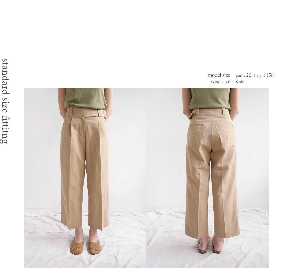 buckle point pants (3colors)