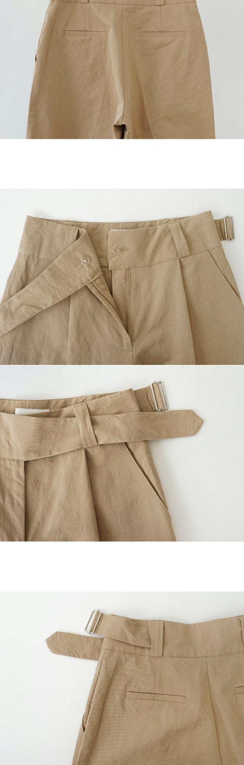 buckle point pants (3colors)
