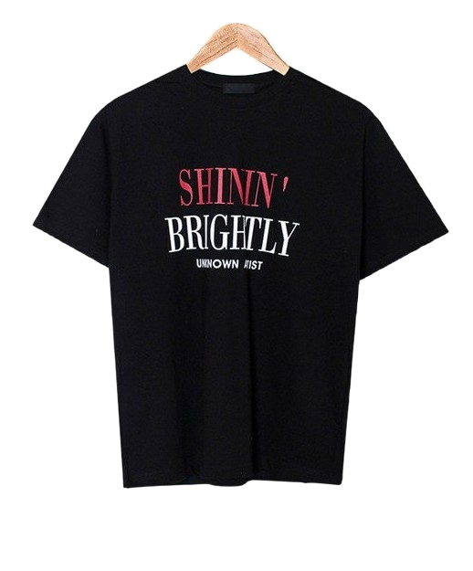 Shine Round Lettering T-shirt