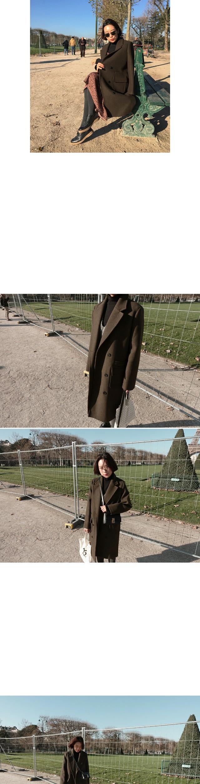 COLETTE- long coat (wool 50%, mocha-brown)