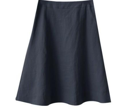 Linen incision skirt