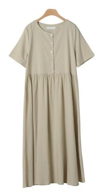 Sisto Linen Long Dress