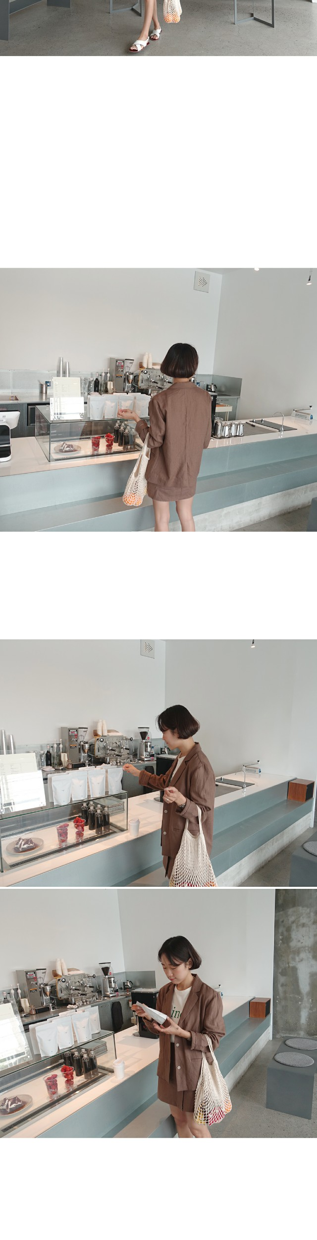 Cocoa- linen skirt