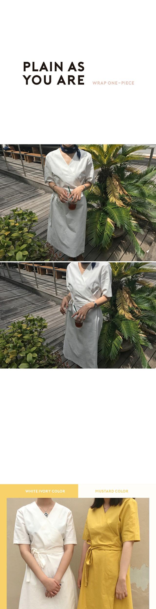 Fuglen-wrap dress