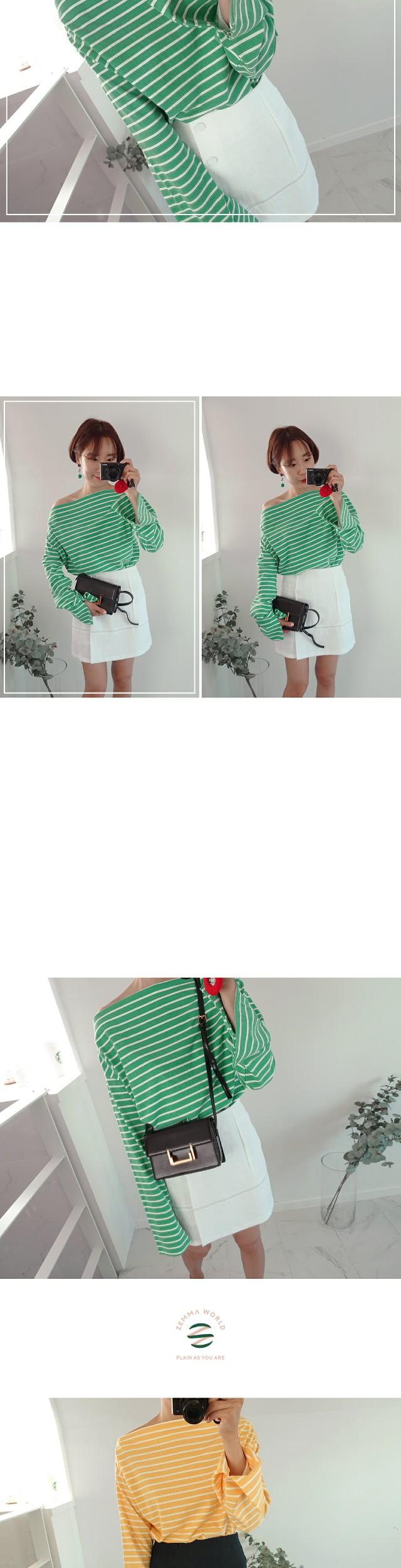 Stitch-linen skirt