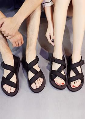 Couple strap sandals