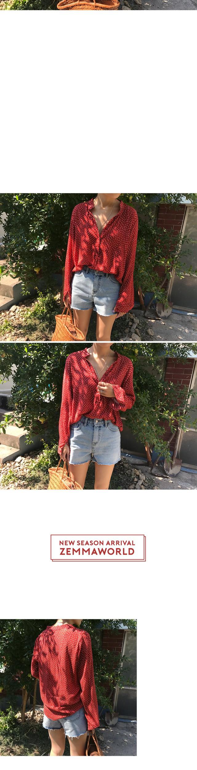 Reina-dot blouse