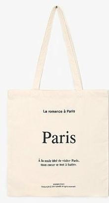 romance paris eco bag
