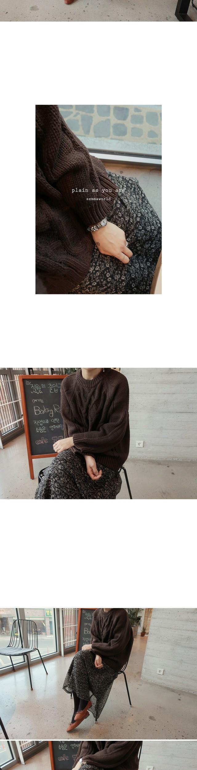 Sage-Flower skirt [size: 44 ~ 66 (banding) / 1color]