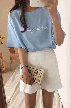 Louis-프린팅티셔츠